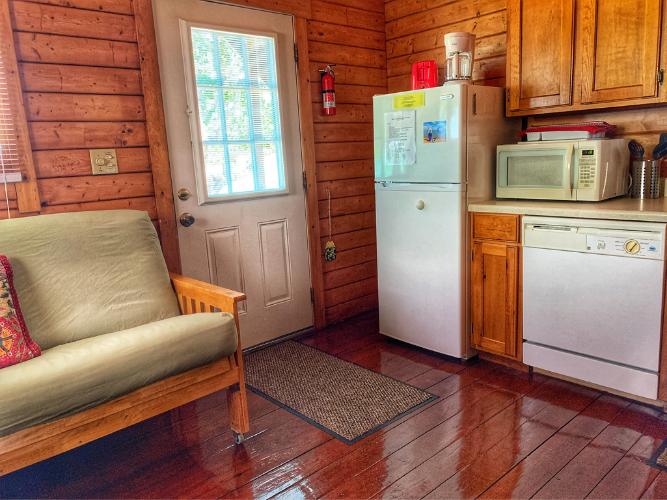 Cabin Interior Near Front Door Entrance