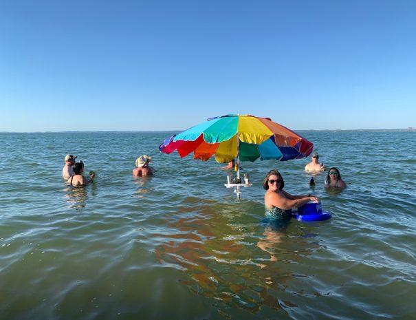 Image of Willow Point guests enjoying Lake Buchanan.